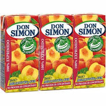 Don Simón Zumo de melocotón exprimido Pack 3x20 cl