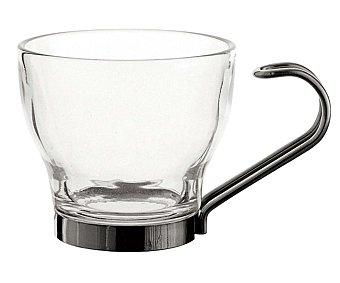 LUMINARC Pack de 3 tazas de café con asa modelo Supreme, con capacidad de 10.8 centilitros y fabricadas en vidrio y acero inoxidable 1 Unidad