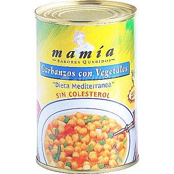 Mamía Garbanzos con vegetales sin colesterol Lata 400 g
