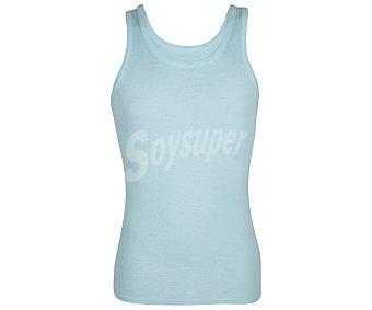 Abanderado Camiseta interior de tirantes para hombre 980, color celeste, talla M.
