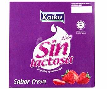 KAIKU Yogur con Sabor a Fresa Sin Lactosa 4 Unidades de 125 Gramos