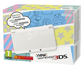 Nintendo Nueva consola Nintendo 3Ds, color blanco. Incluye mejoras como Nfc para conectar Amiibo 1 unidad