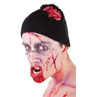 Gorro zombie con cerebro abierto