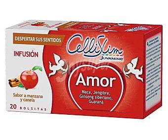 Cellislim Infusión amor sabor a manzana y canela (despierta sus sentidos) 20 bolsitas