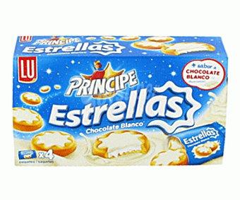 Lu Galletas rellenas crema LU principe estrellas chocolate blanco paquete 150 grs. Paquete 150 grs