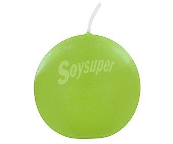 AUCHAN Vela con forma de bola de 60 milímetros, de color verde anís 1 Unidad