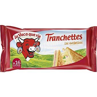 La Vaca que ríe Queso fundido en lonchas Tranchettes  Paquete 300 g (16 lonchas)