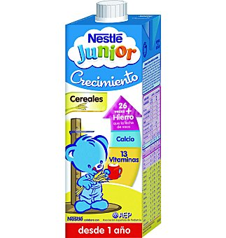 Nestlé Leche crecimiento 1+ proteccion con cereales 1 L