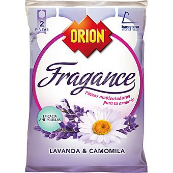 Orion Fragance Pinza antipolillas perfume lavanda & camomila Bolsa 2 unidades