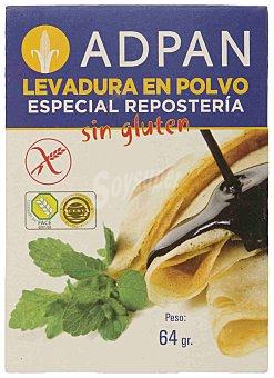 Adpan Levadura en polvo especial reposteria sin gluten 4 sobres Envase 64 g