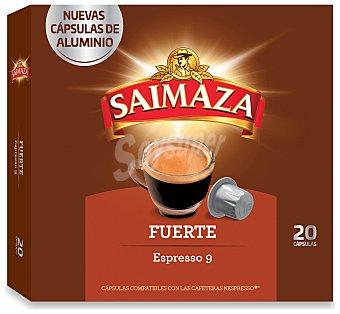 Saimaza Café espresso fuerte Nº 9 en cápsulas Caja 20 u