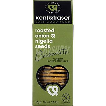 Kentfraser Galletas saladas de cebolla y queso sin gluten caja 110 g caja 110 g