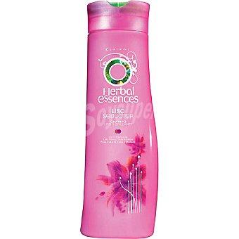 Herbal Essences Champú liso seductor con extractos de Lirio Rosa y Seda Asiática cabello seco y dañado Frasco 300 ml