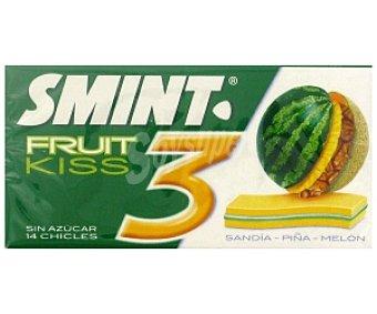 Smint Smint Kiss 3. Chicles 3D Sandía-Piña-Melón sin azúcar 33g