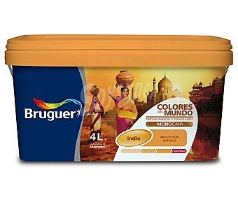BRUGUER Pintura plástica de interior, color melocotón intermedio India, Colores del Mundo 4 L