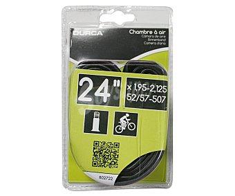 DURCA Cámara de aire con válvula Schrader (gruesa) para ruedas de bicicleta de 24 pulgadas 1 unidad