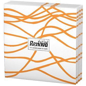 Renova Servilletas Black Label serpentina naranja paquete 12 unidades Paquete 12 unidades