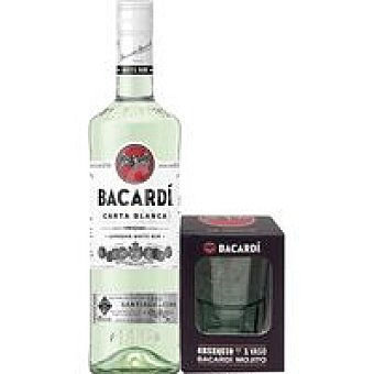 Bacardi Ron Botella 70 cl + Vaso