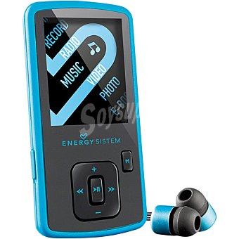 ENERGY SISTEM Reproductor MP4 Slim 3 Electric Blue de 8 GB con Radio FM y LCD de 1,8''