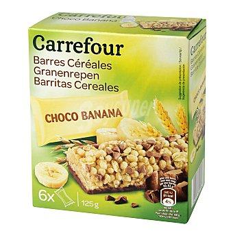 Carrefour Barritas de muesli con chocolate y plátano 150 g