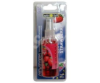 AUTOBRILL Ambientador en Spray para Coche, Perfume de Fresa, 75 Mililitros 75 ml