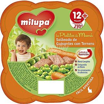 Milupa Miluchef Tarrito salteado de guisantes con ternera a partir de 12 meses Tarro 230 g
