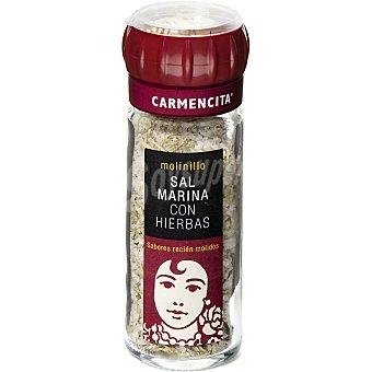 Carmencita sal marina con hierbas molinillo Frasco 85 g