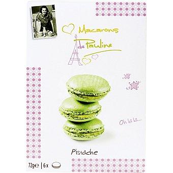 PAULINE Macarons galletas de pistacho bolsa 72 g bolsa 72 g