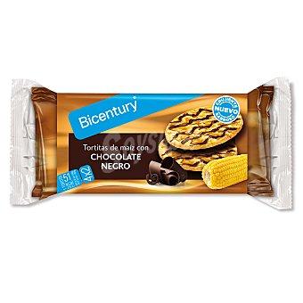 BICENTURY NACKIS Tortitas de maiz con chocolate negro estuche 95 g packs 4x2 unidades