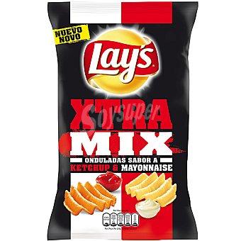 LAY'S XTRA MIX Patatas onduladas sabor a ketchup y mayonesa Bolsa 147 g