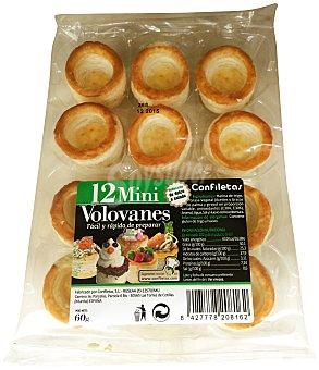 Confiletas Vol-au-vent mini (bases mini de hojaldre para canapés) Caja 12 u, 60 g