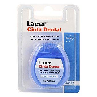 Lacer Cinta dental con flúor y triclosán, sabor menta 50 Metros