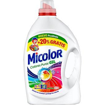 Micolor Detergente máquina líquido gel colores puros + 8 gratis Botella 33 dosis