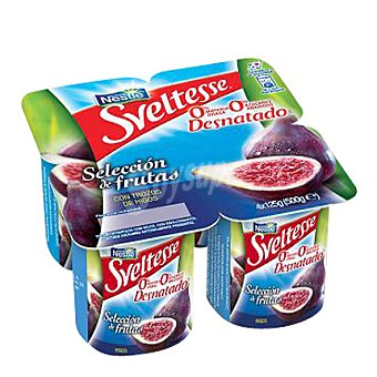 Sveltesse Nestlé Yogur desnatado 'selección' de frutas de temporada Pack de 4x125 g