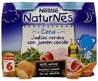 Naturnes Nestlé Tarrito Cena de judías verdes con jamón cocido 2 unidades de 200 g