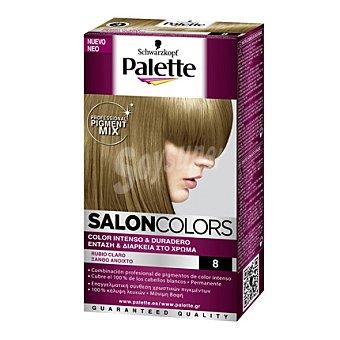 Palette Tinte Salón Colors 8 Rubio Claro 1 ud