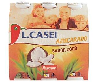 AUCHAN Yogur Lcasei Coco 6x100g