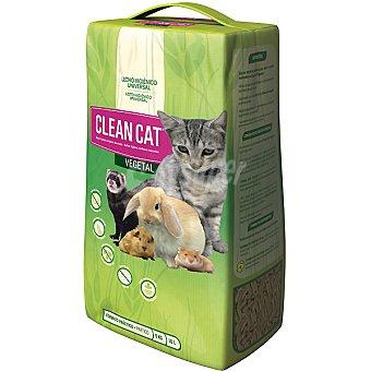 CLEAN CAT VEGETALIA Lecho higiénico universal vegetal para todas las mascotas Envase 10 kg
