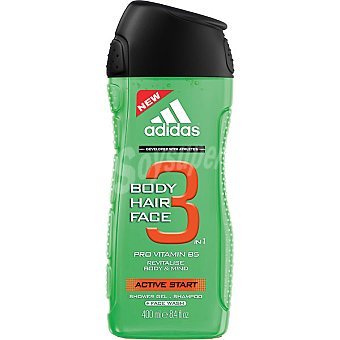 Adidas Gel de baño Active Start 3 en 1 con pro vitamina B5  frasco 400 ml