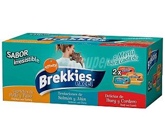 Brekkies Affinity Comida para gatos húmeda surtido Pack 6 uds. 100 g