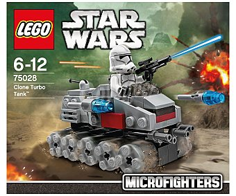 LEGO Juguete de construcción Star Wars Microfighter, Clone Turbo Tank, 96 piezas, modelo 75028 1 unidad