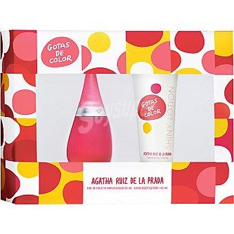 Ágatha Ruiz de la Prada Gotas de color eau de toilette femenina spray 50 ml + shiny body lotion tubo 100 ml Spray 50 ml