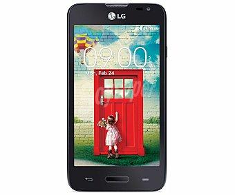 "LG L65 NEGRO Smartphone libre LG L65 Negro, procesador: Dual-Core 1.2GHz, Ram: 1GB, almacenamiento: 4GB ampliable mediante tarjetas microsd, pantalla: IPS 4.3"", cámara: 5Mp, Smartphone libre"