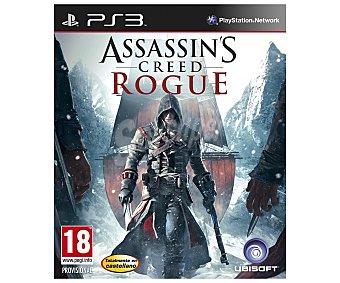 UBISOFT Videojuego Assanssins's Creed Rogue para Play Station 3. Género: Acción, Aventura (histórico). Recomendación por edad pegi: +18. 1 Unidad 1 Unidad