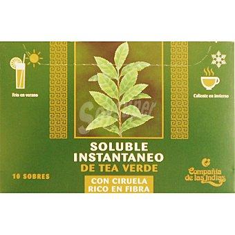 COMPAÑIA DE LAS INDIAS té verde con ciruela soluble 60 g