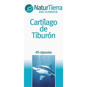 NaturTierra Cartílago de tiburón fortalece las articulaciones y músculos ápsulas envase 25 g 45 c