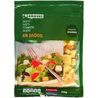 Eroski Queso en dados para ensalada Bolsa 150 g