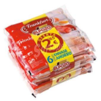 ElPozo ELPOZO salchichas frankfurt envase pack 6 960 grs