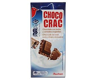 Auchan Chocolate con leche y cereales crujientes Pack de 2 unidades de 100 gramos