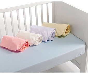 Basics Pack 2 bajeras cuna bebé, blanco, rosa, azul, beige y gris, BASIC. Pack 2